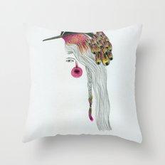 Pink Pajarita Throw Pillow