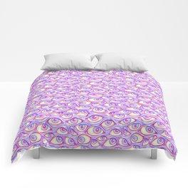 Wall of Eyes in Purple Comforters