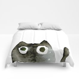 I Love Cats No.13 by Kathy Morton Stanion Comforters