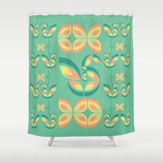 Peacocks and Butterflies Shower Curtain