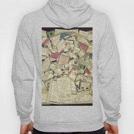 Antique Engraving of French Currency Hoody