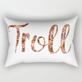 Rose gold troll Rectangular Pillow