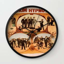Vintage poster - Barnum the Hynotist Wall Clock