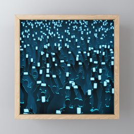 Celebrity BLUE Framed Mini Art Print