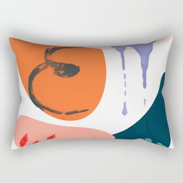 abstract dripping Rectangular Pillow