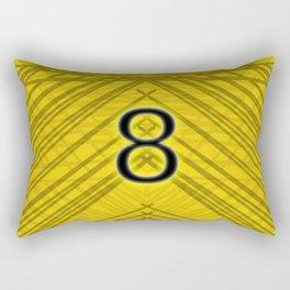 Abstract Yellow 8 Rectangular Pillow