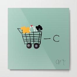 Cart Minus C Equals Art Metal Print