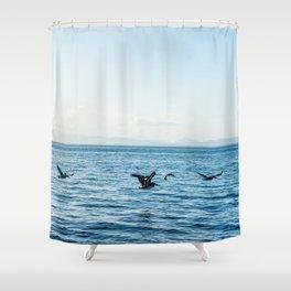 Flying Flock Shower Curtain