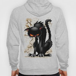 Black Cat Evil Angry Funny Character Hoody