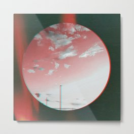 glitched red sky Metal Print