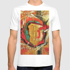 Abstract 1 Mens Fitted Tee MEDIUM White