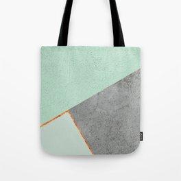 MINT COPPER GRAY GEOMETRIC PATTERN Tote Bag