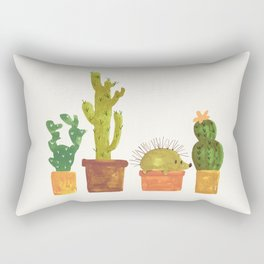 Hedgehog and Cactus (incognito) Rectangular Pillow