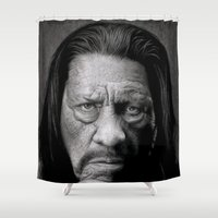 danny haas Shower Curtains featuring Danny Trejo by Giampaolo Casarini