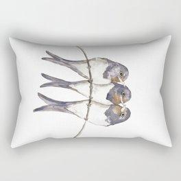 Three young swallows Rectangular Pillow