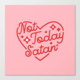 not today satan II Leinwanddruck