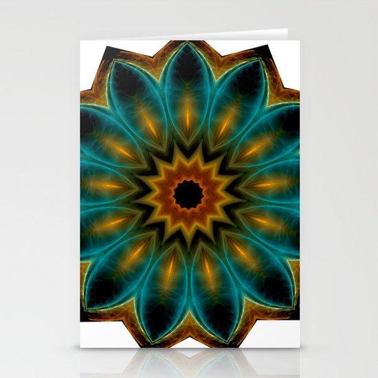 encircled mandala Stationery Cards