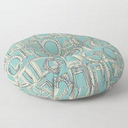 picture frames aplenty indigo duck egg blue Floor Pillow
