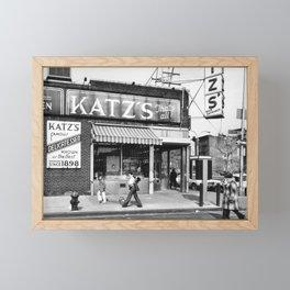 Katzs Deli NYC Framed Mini Art Print