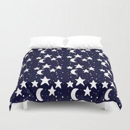 Starry Night Cartoon Print Pattern Duvet Cover