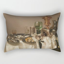 Still life with gilded goblet - Willem Claesz. Heda (1635) Rectangular Pillow