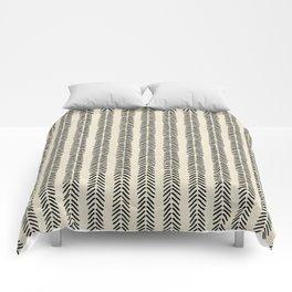 Mud Cloth - Black and White Arrowheads Comforters