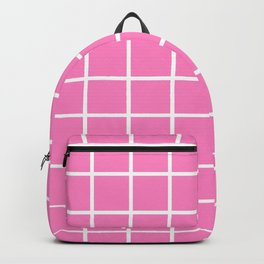 GRID DESIGN (WHITE-PINK) Backpack