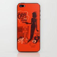 Cat Movie - orange iPhone & iPod Skin