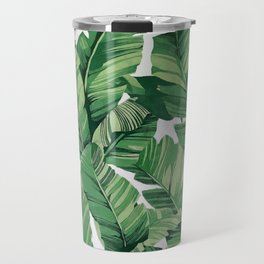 Tropical banana leaves V Travel Mug