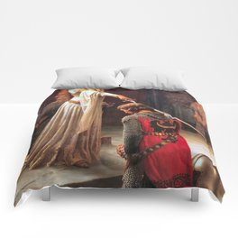 Edmund Blair Leighton Accolade 1901 Comforters