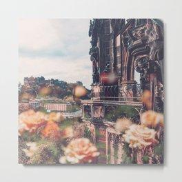 Edinburgh in Bloom Metal Print