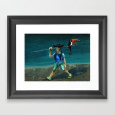 Walking with my Tucan. Framed Art Print