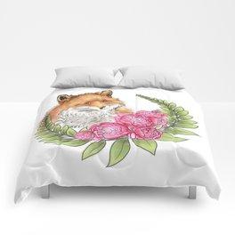 Fox in Bloom Comforters