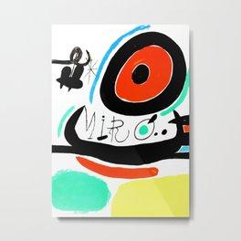 Joan Miro, Joan Miró i Catalunya, 1968 Artwork for Wall Art, Prints, Posters, Tshirts, Men, Women, Youth Metal Print