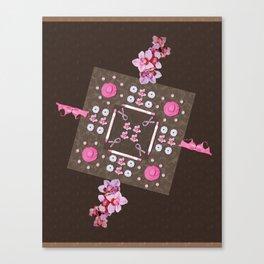 Breast Cancer Survivor Kaleidoscope Art Canvas Print