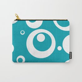Circles Dots Bubbles :: Turquoise Carry-All Pouch