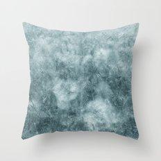 Blue thistle Throw Pillow