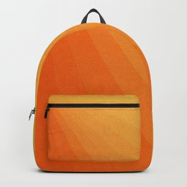 Shades of Sun - Line Gradient Pattern between Light Orange and Pale Orange Backpack