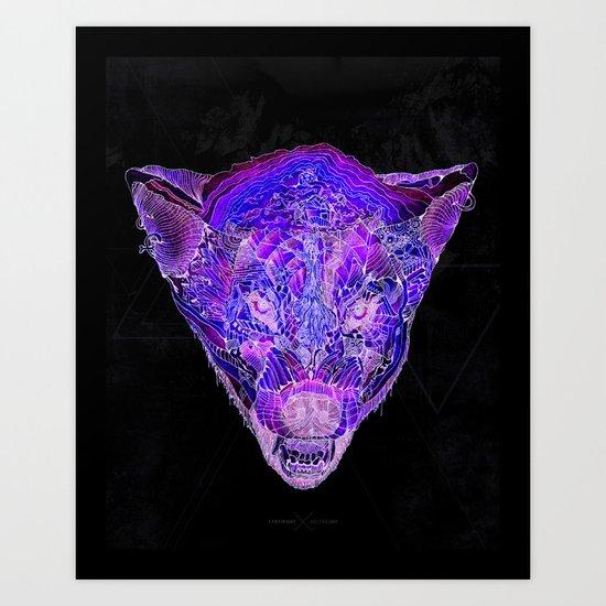 Jungle Wolf Art Print