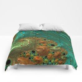Cool Creamsicle - Fractal Art Comforters
