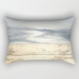landscape 001: telegraph sky over white woods Rectangular Pillow