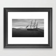 Desert shipwreck Framed Art Print