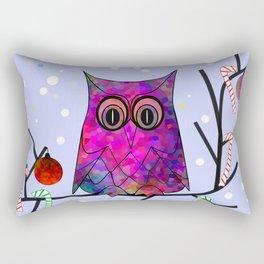 The Festive Owl Rectangular Pillow