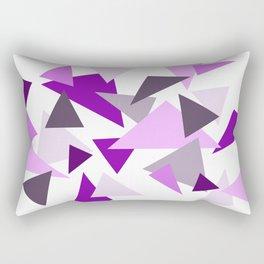 Triangel Design purple violet pink Rectangular Pillow