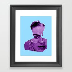 FRIDA - shirt version - blue/purple Framed Art Print