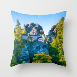 Basteibrücke Throw Pillow