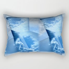 Tinkering Blue Rectangular Pillow