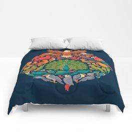 Aerial Rainbow Comforters