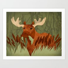 Moose Munch Art Print