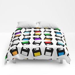 Diskette Retro Pattern Color Comforters